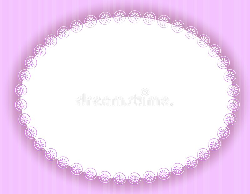 Oval Purple Decorative Border or Frame royalty free illustration