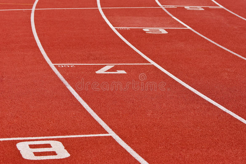 Oval Running Track royalty free stock photo