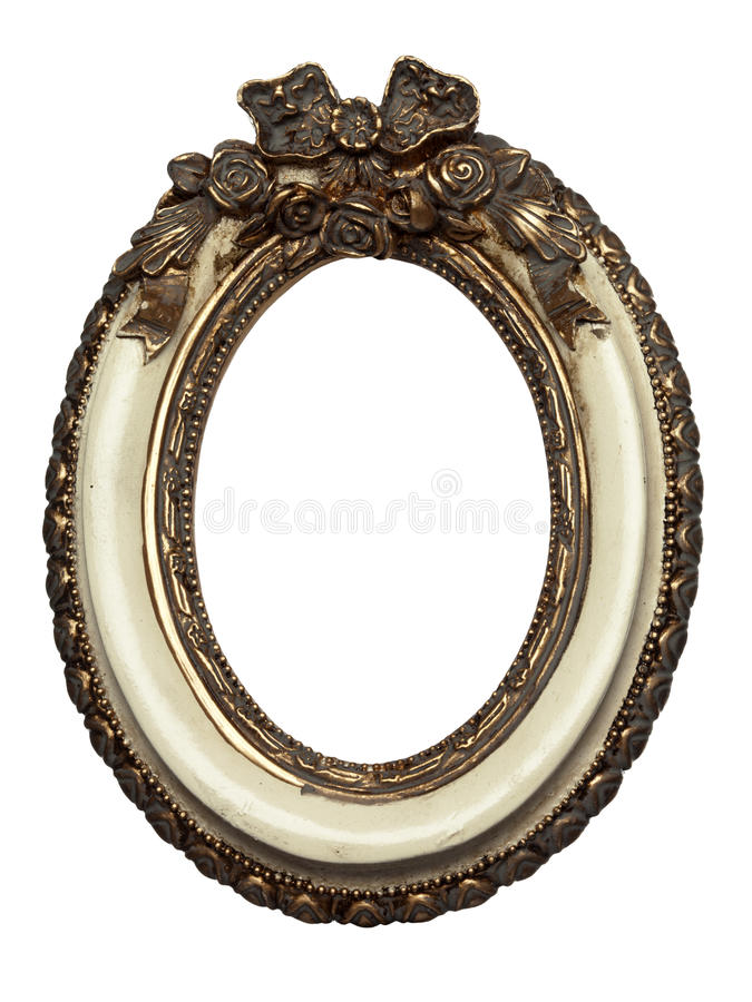Oval shape baroque picture frame royalty free stock photos