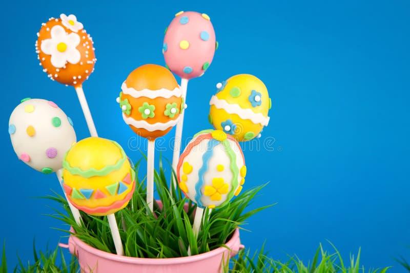 Easter egg cake pops royalty free stock photo