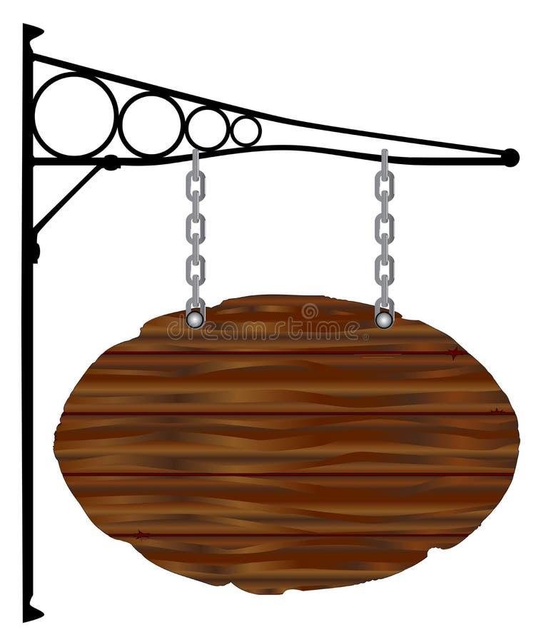 Oval Sign and Bracket stock illustration