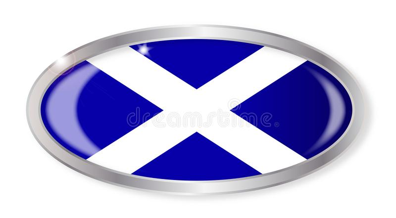 Scotland Flag Oval Button stock illustration