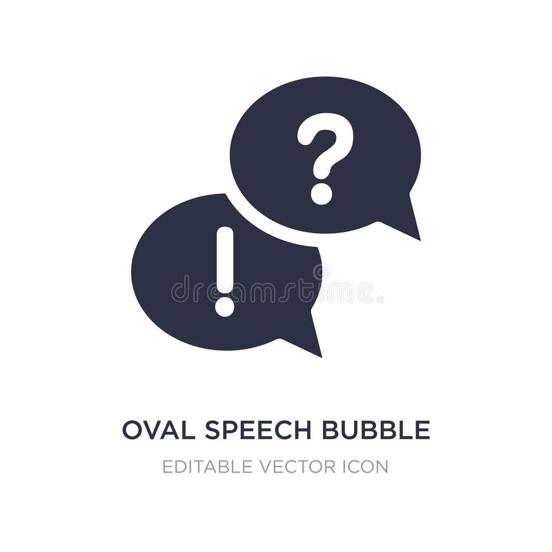 Oval speech bubble icon on white background. Simple element illustration from Shapes concept. Oval speech bubble icon symbol design stock illustration