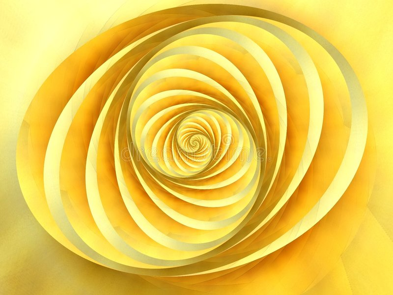 Oval Swirls Stripes Yellow royalty free illustration