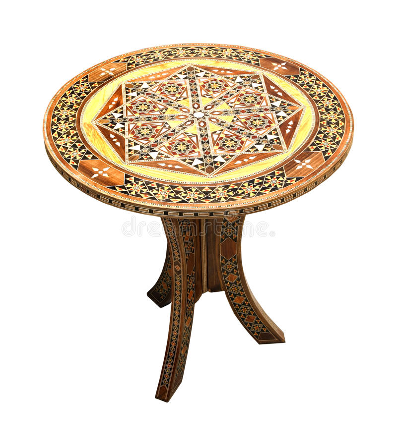 oval tabell royaltyfria foton