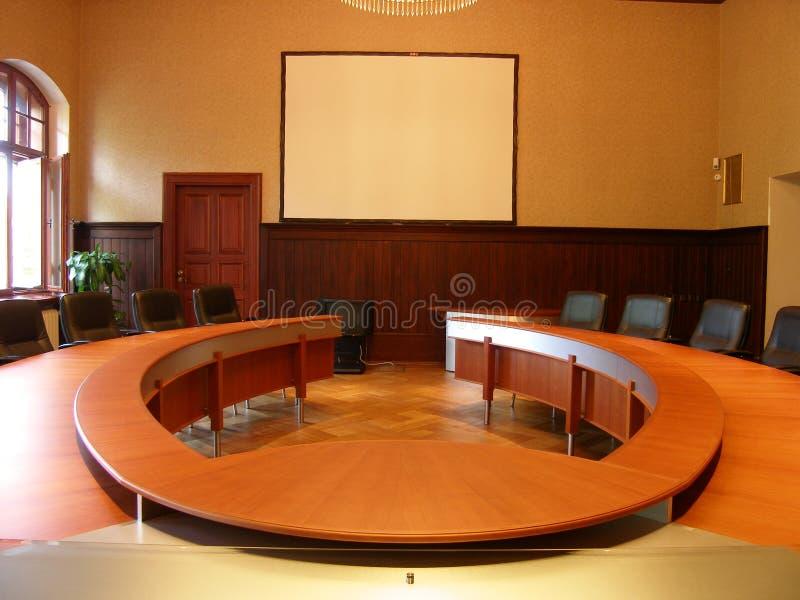 Oval table stock photos
