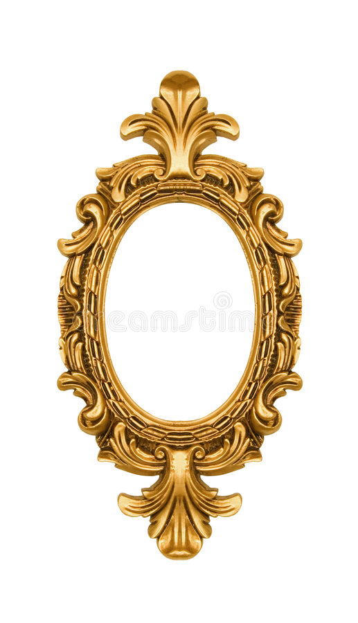Free Oval Vintage Gold Ornate Frame Royalty Free Stock Image - 4693326