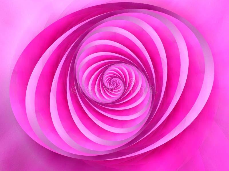 Oval wirbelt Streifen-rosafarbene Farbe lizenzfreie abbildung