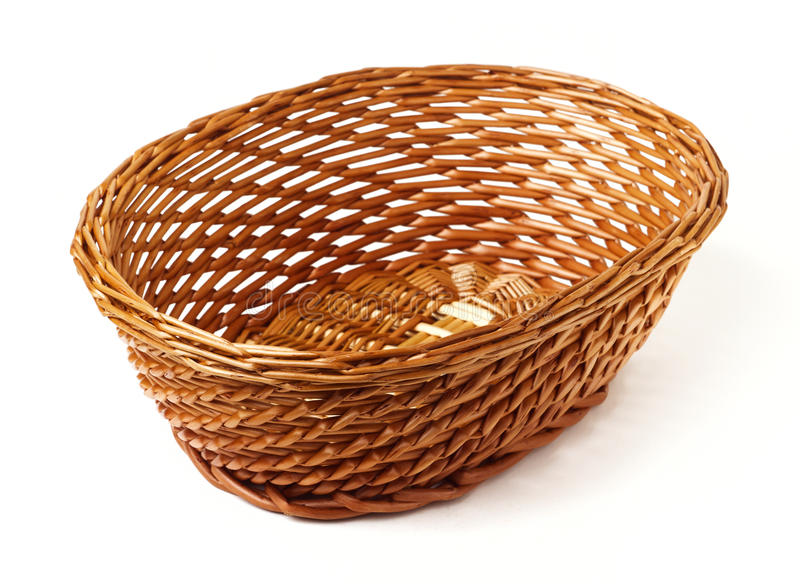 Download Oval Woven Reed Basket stock photo. Image of white, interwoven - 26693920