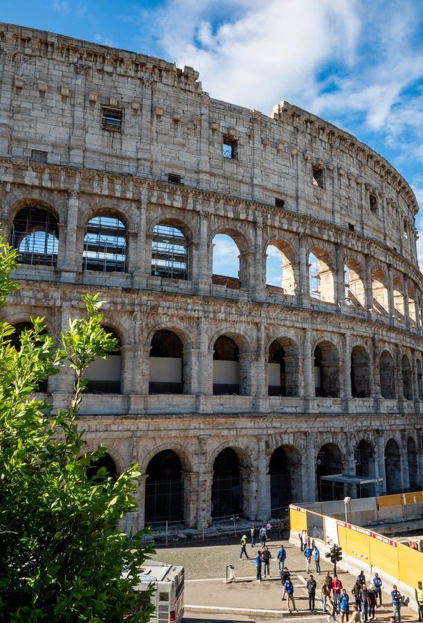 Ovale amphitheatre in het centrum van de stad van Rome, Itali? stock foto's