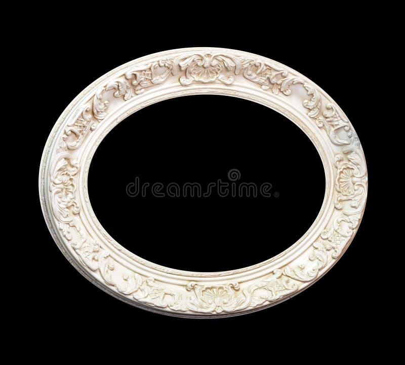 Ovale blanc de trame images stock