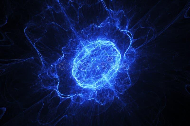 Ovale bleu d'énergie image libre de droits