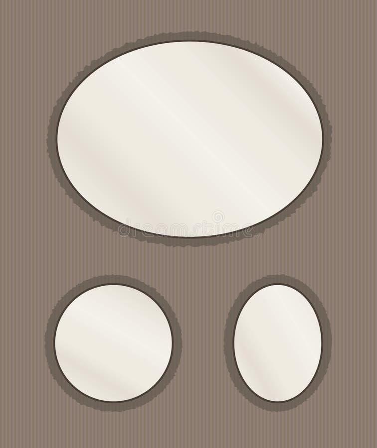 Ovale Fotoseite lizenzfreie abbildung