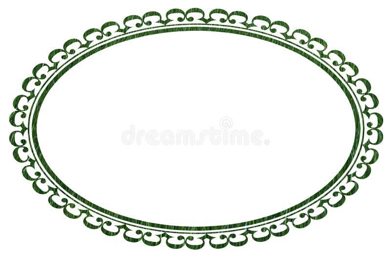 Ovale Frame of Grens in de Textuur van het Gras royalty-vrije stock foto's