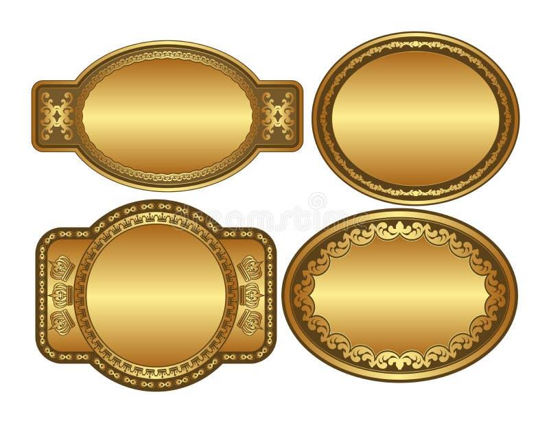 Ovale gouden achtergronden