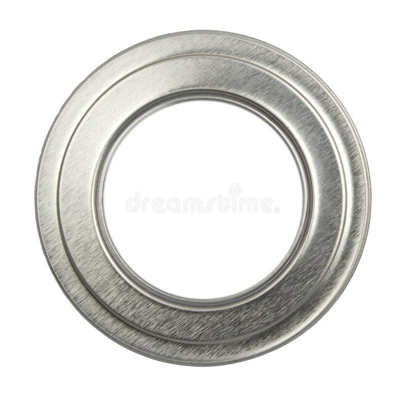 Ovale zilveren omlijsting royalty-vrije stock afbeelding