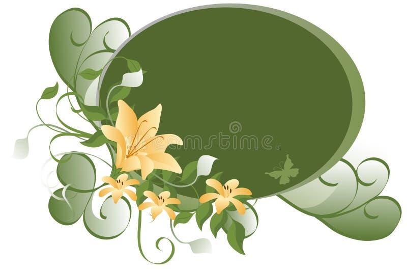 Ovaler Blumenhintergrund stock abbildung