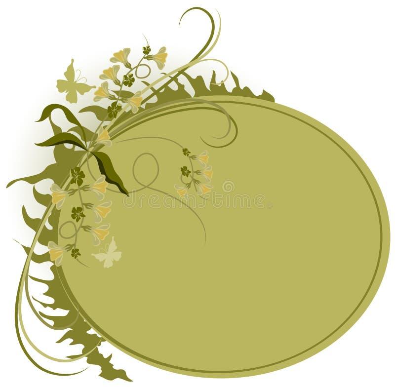 Ovaler Mit Blumenhintergrund Stockfotografie
