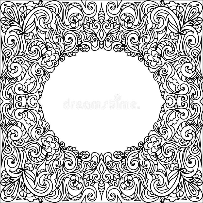 Ovales Feld zentangle vektor abbildung