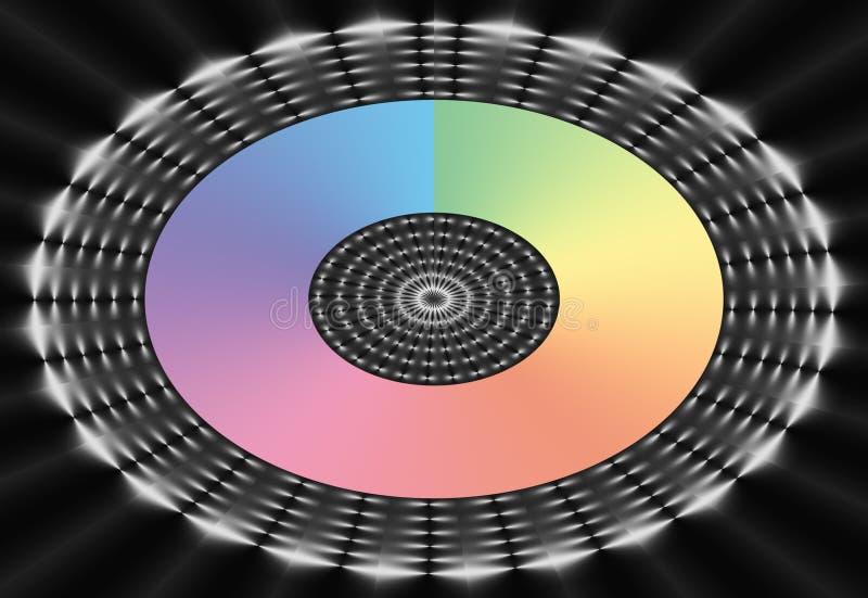 Ovales Regenbogen-Ineinander greifen lizenzfreie abbildung
