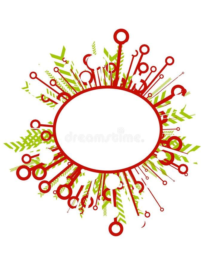 Ovales Weihnachtszeichen oder -kennsatz lizenzfreie abbildung