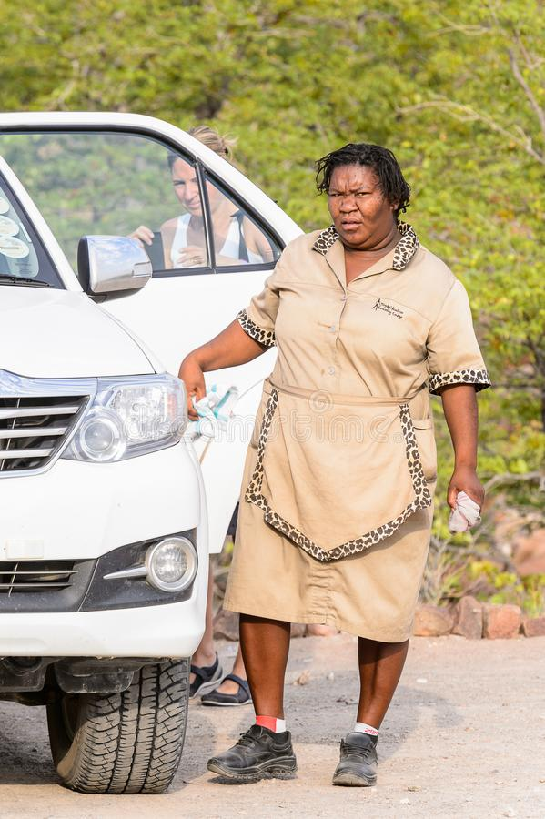 Ovambo-Leute von Namibia lizenzfreie stockfotos