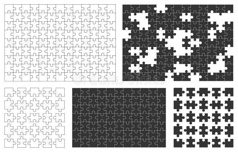 ovanför avstånd för pussel för stycke för kopieringsmellanrumsjigsaw vektor illustrationer