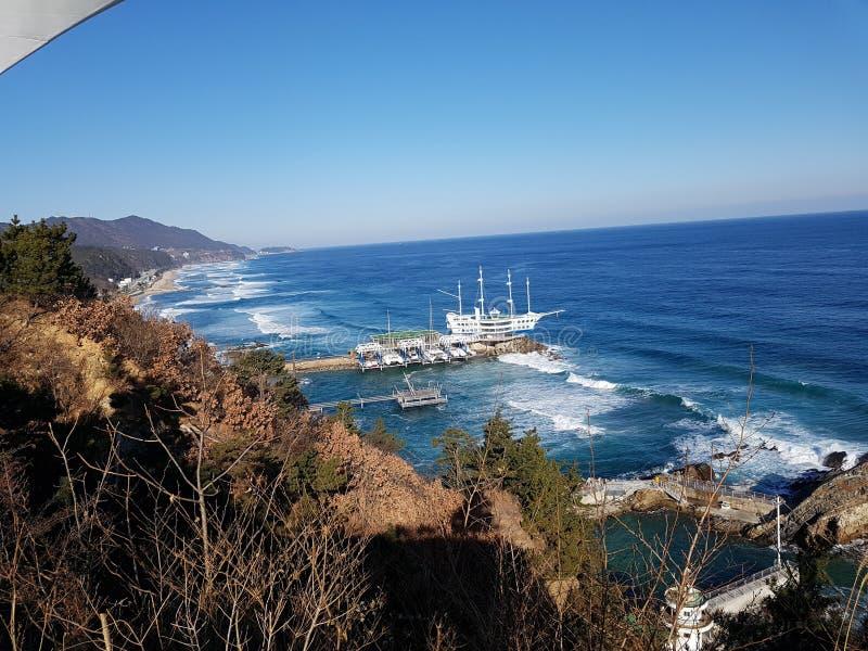 ovanför havskustsikt fotografering för bildbyråer
