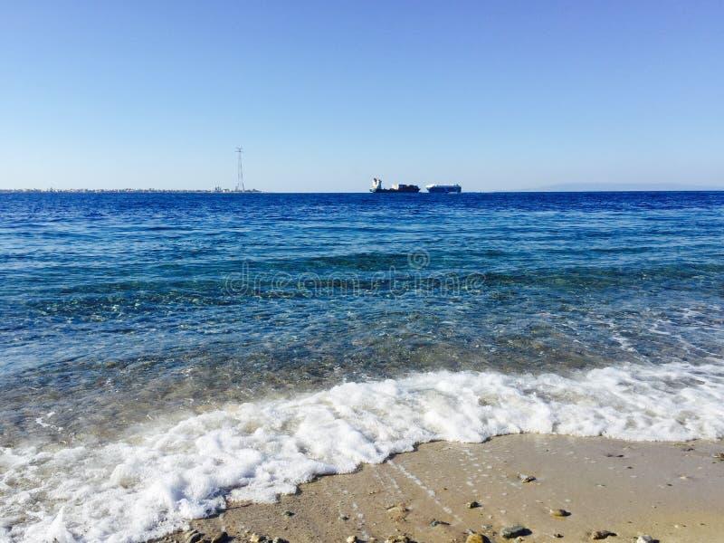 ovanför havskustsikt royaltyfri foto