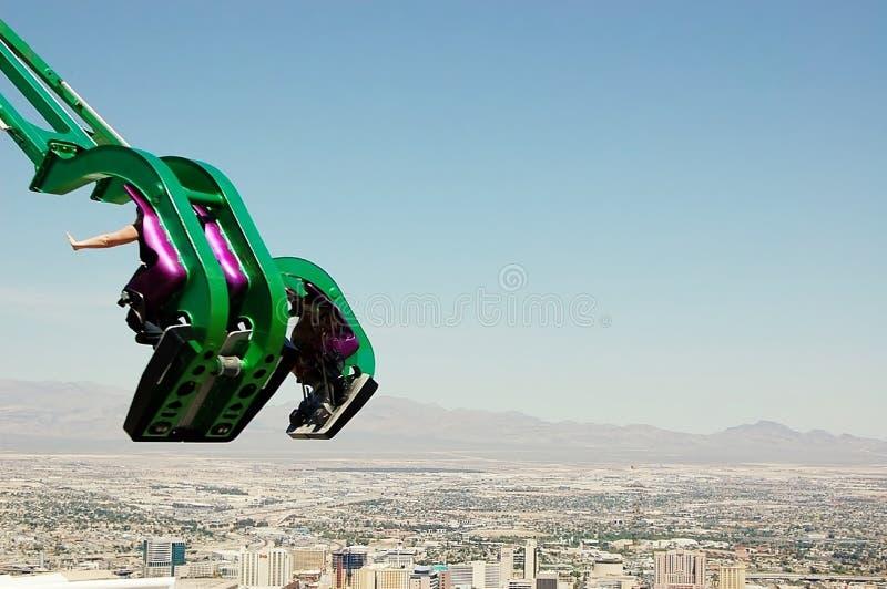Ovanför Las Vegas x-ström ritt royaltyfri foto
