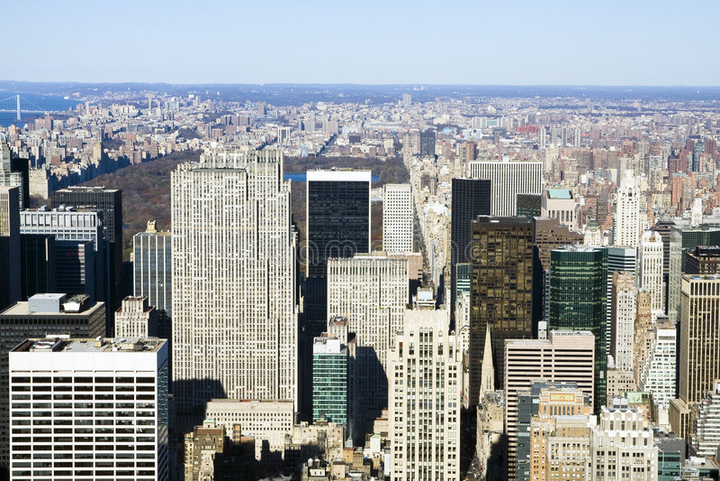 ovanför nya sedda york royaltyfri foto