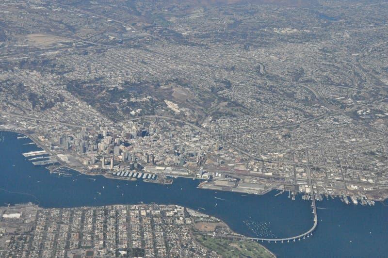 Ovanför San Diego arkivbild