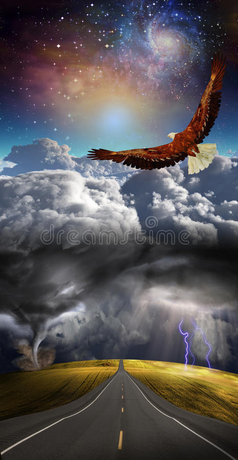 ovanför storm royaltyfri illustrationer