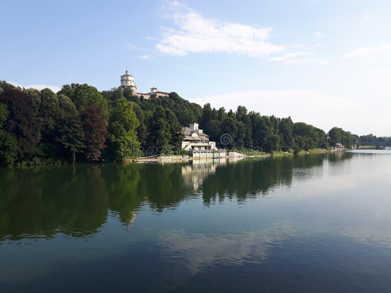 Ovanför Turin i sommardagar arkivfoton