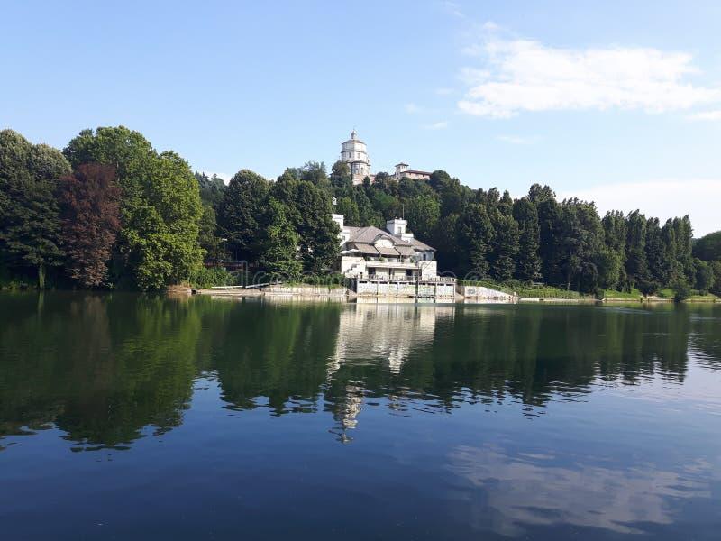 Ovanför Turin i sommardagar fotografering för bildbyråer