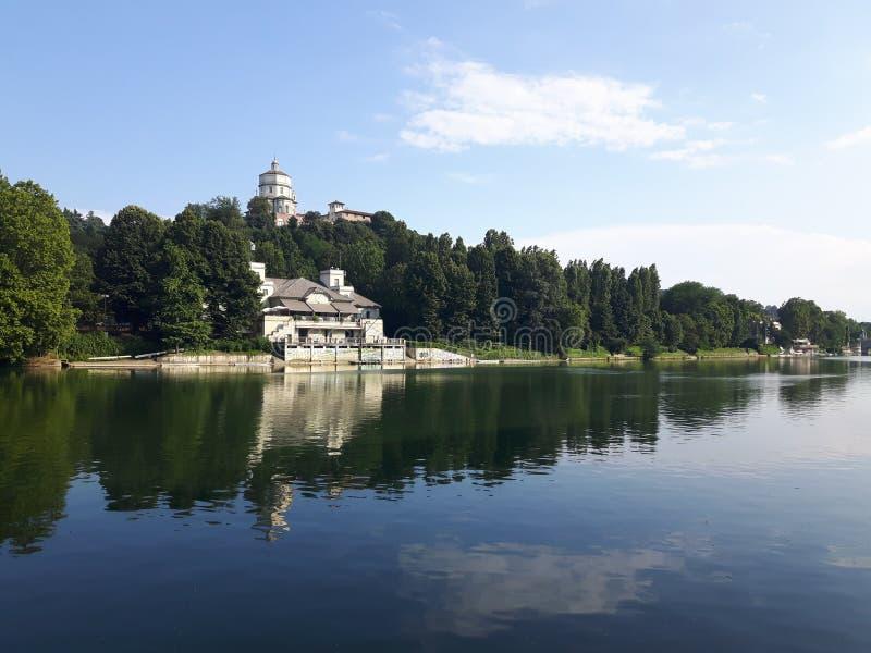 Ovanför Turin i sommardagar royaltyfria foton