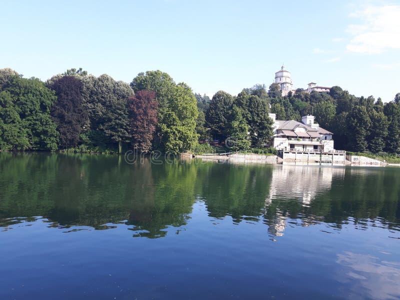 Ovanför Turin i sommardagar arkivbild