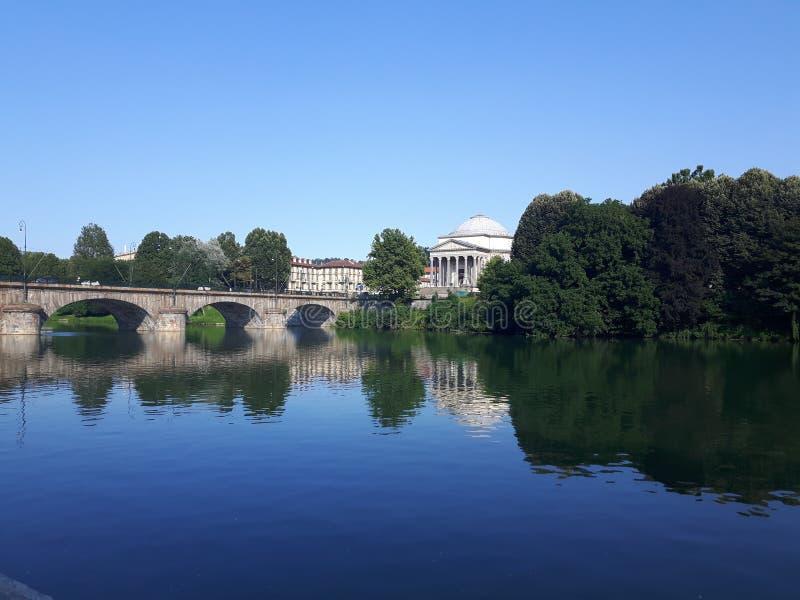 Ovanför Turin i sommardagar arkivbilder