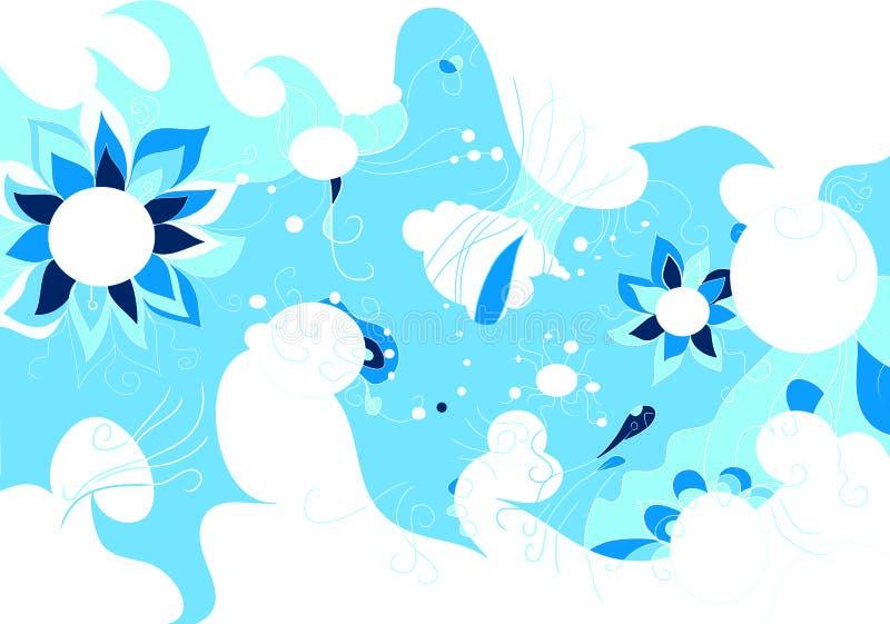 ovanlig abstrakt design stock illustrationer