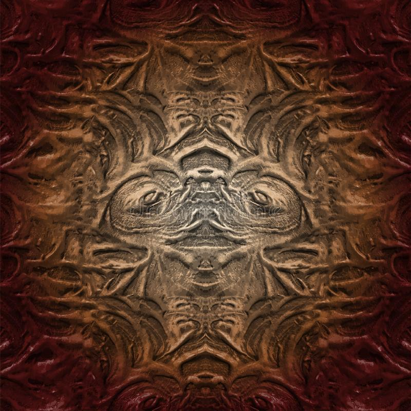 Ovanlig abstrakt modell Moderiktig idérik collage Ovanligt konstverk stock illustrationer