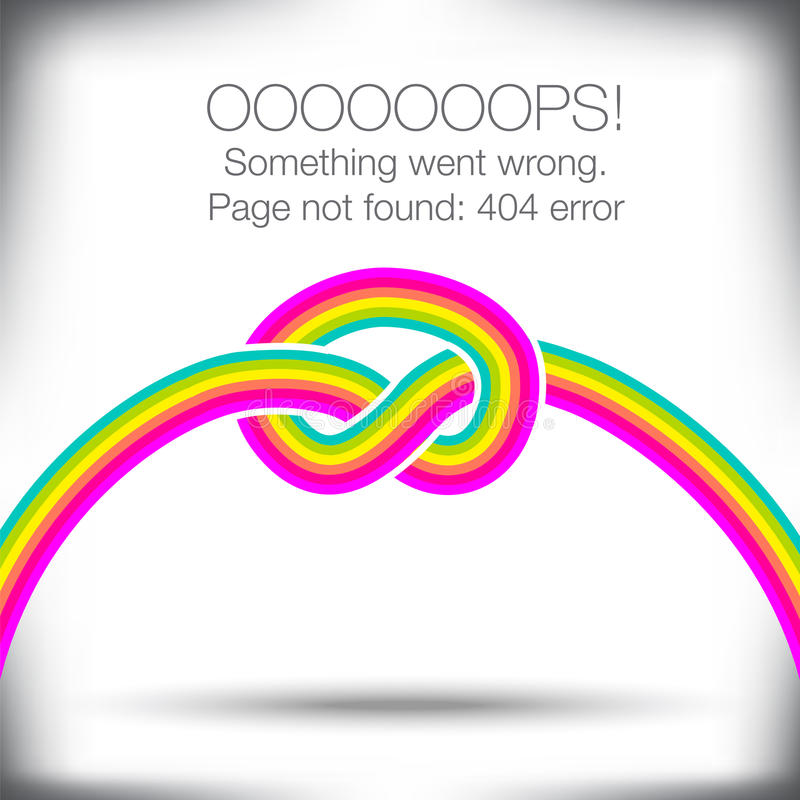 Ovanlig knuten regnbåge stock illustrationer