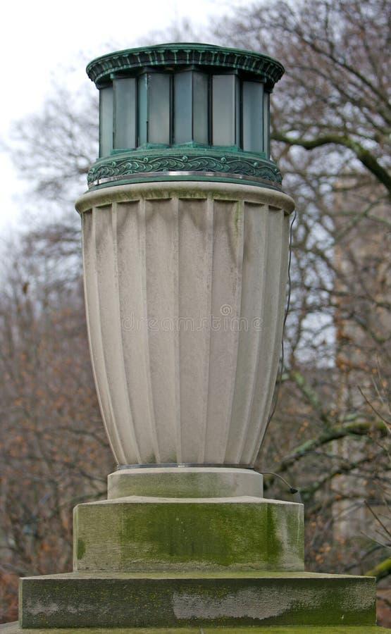 ovanlig urn för streetlamp arkivfoto