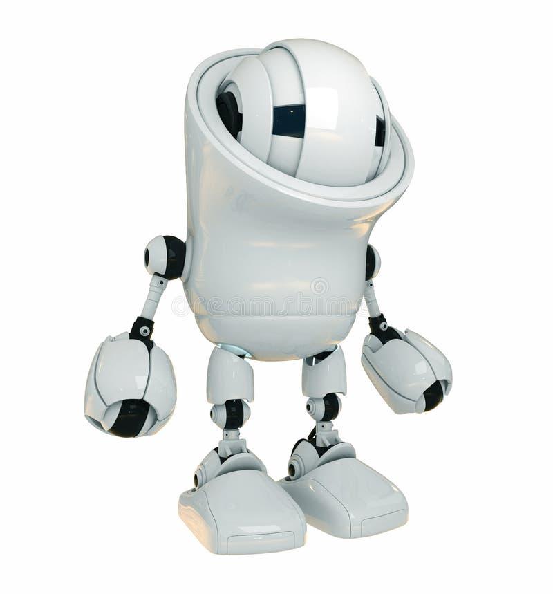 ovanlig white för robot royaltyfri illustrationer