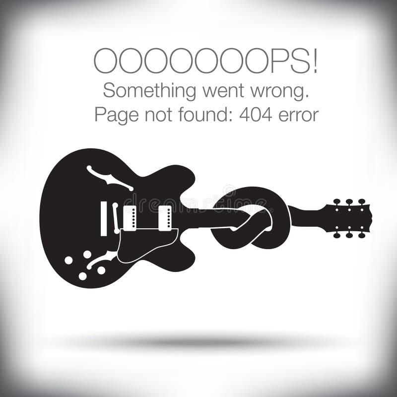 Ovanligt - fel 404 - söka det inte fann diagrammet royaltyfri illustrationer