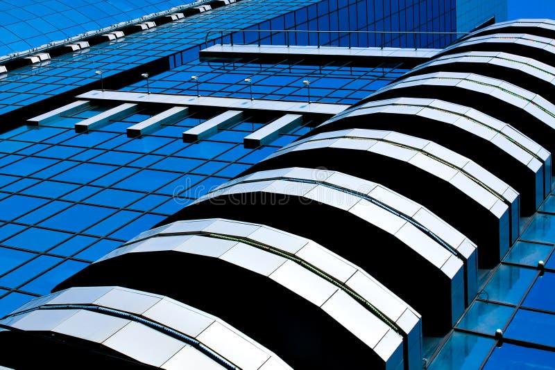 ovanligt modernt kontor för abstrakt kantjustering fotografering för bildbyråer