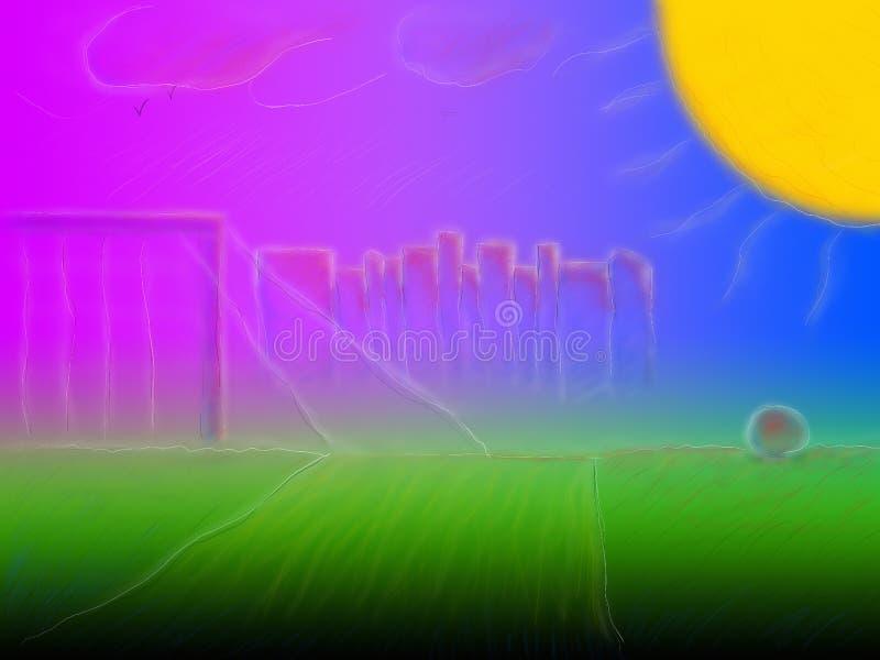 Ovannämnt fält för sol arkivfoton