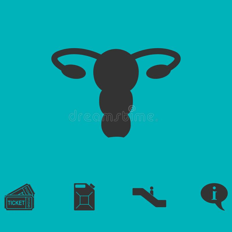 Ovaries icon flat vector illustration