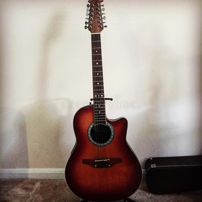 Ovation. Acoustic Electric Guitar stock photo
