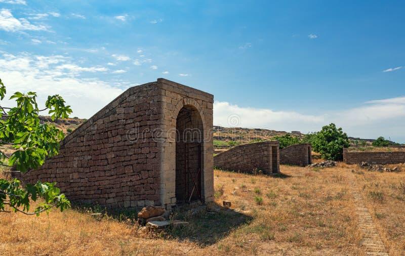 Ovdans antiques, puits de caravane image stock