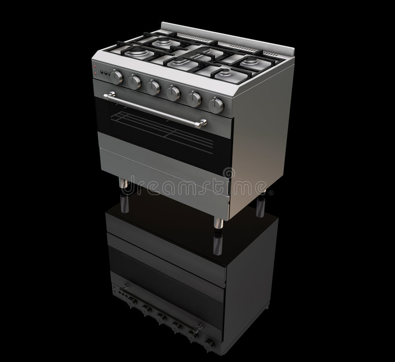 Oven stock illustration